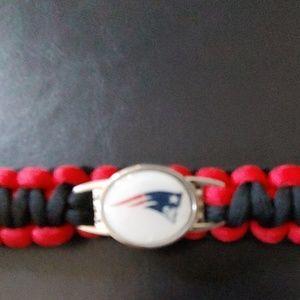 Patriots braided bracelet